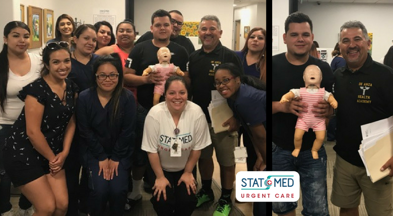STAT MED Urgent Care Staff CPR Training Group Photo