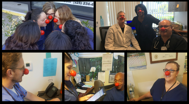 Red Nose Day 2017 - STAT MED Urgent Care Collage