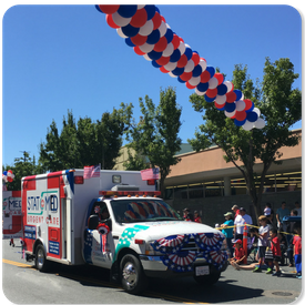 STAT MED Urgent Care STATMobile in Theatre Square during the Orinda Parade