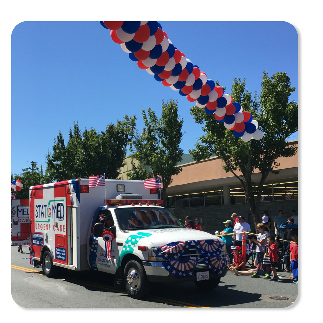 STATMobile - Orinda Fourth of July Parade - STAT MED Urgent Care
