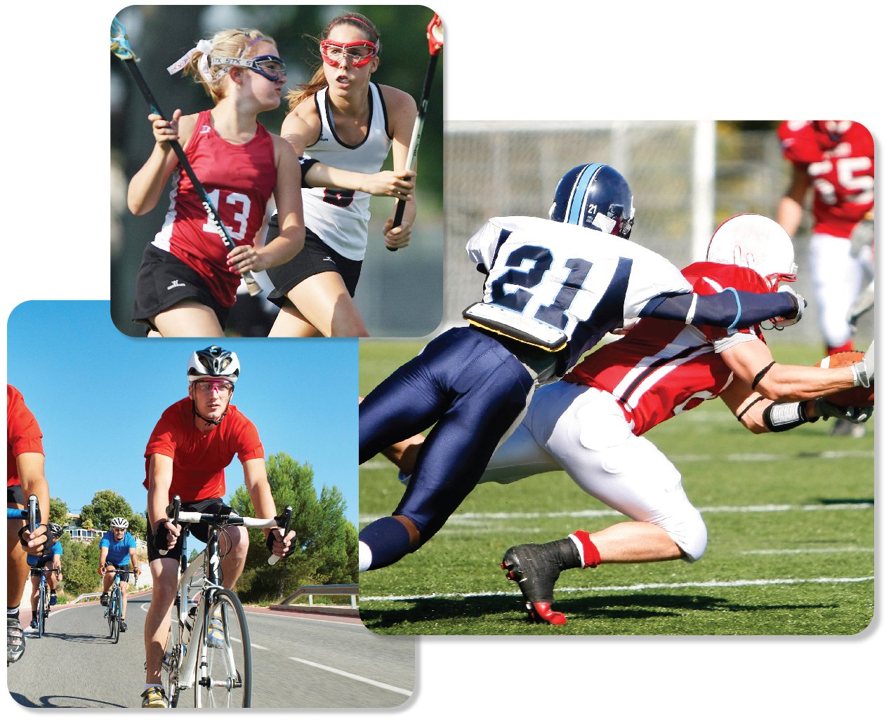 Sports with Concussion Risk - Collage