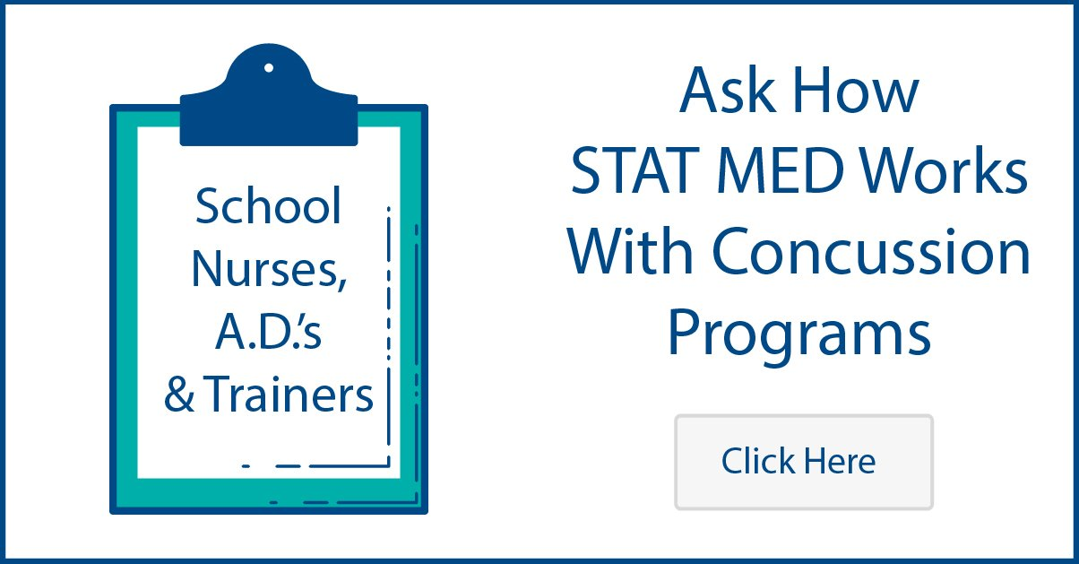 Click to Learn about how STAT MED Urgent Care works with School Concussion Programs