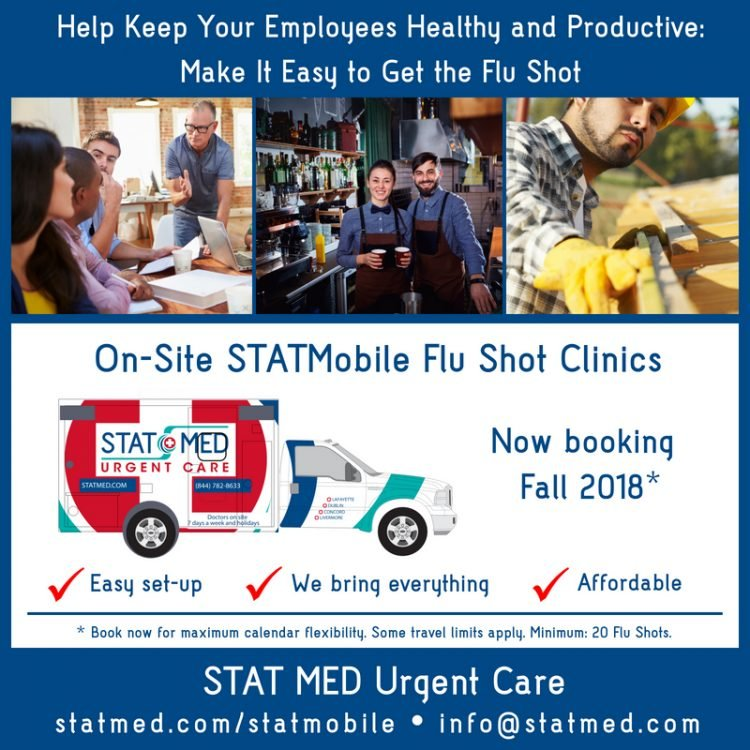 On-Site Flu Shot Clinics in Contra Costa and Alameda County
