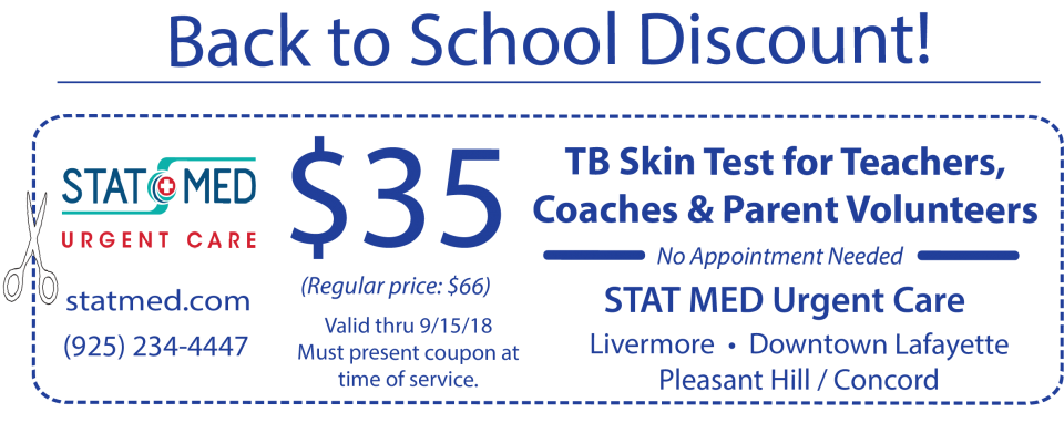 $35 TB Test - Back to School Discount - STAT MED Urgent Care