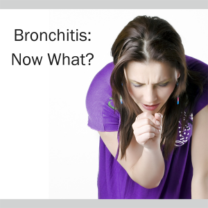 Woman coughing: Bronchitis. Now what?