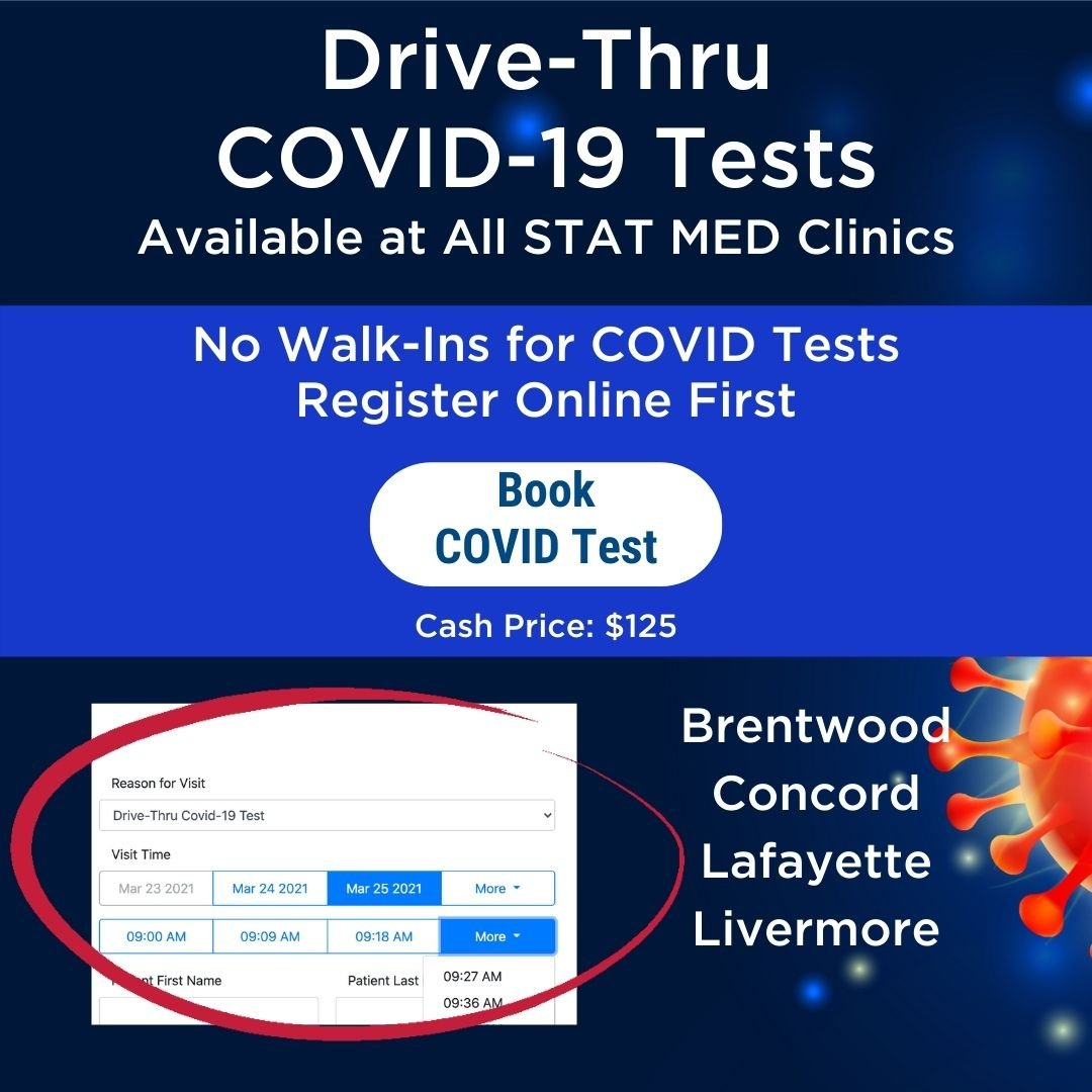 Book Drive Thru Covid Testing at STAT MED Urgent Care
